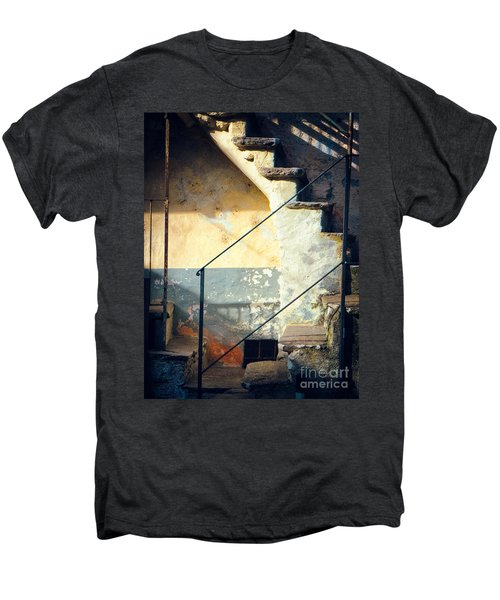 Men's Premium T-Shirt featuring the photograph Stone Steps Outside An Old House by Silvia Ganora