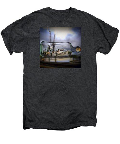 Stormy Seas - Ship In A Bottle Men's Premium T-Shirt
