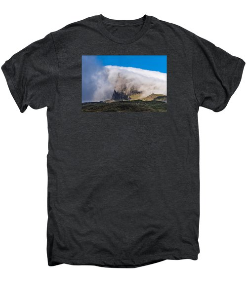 Men's Premium T-Shirt featuring the photograph Storr In Cloud by Gary Eason