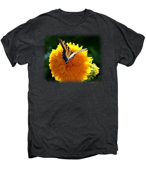 Swallowtail On Sunflower Men's Premium T-Shirt by Korrine Holt