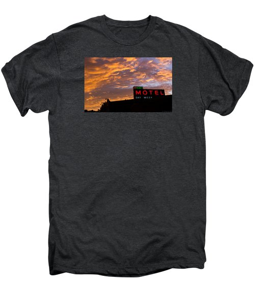 Sunrise Enters Capitola Men's Premium T-Shirt by Lora Lee Chapman