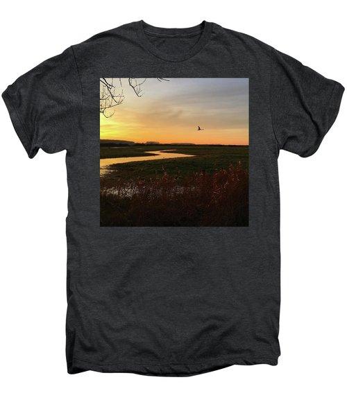 Sunset At Holkham Today  #landscape Men's Premium T-Shirt