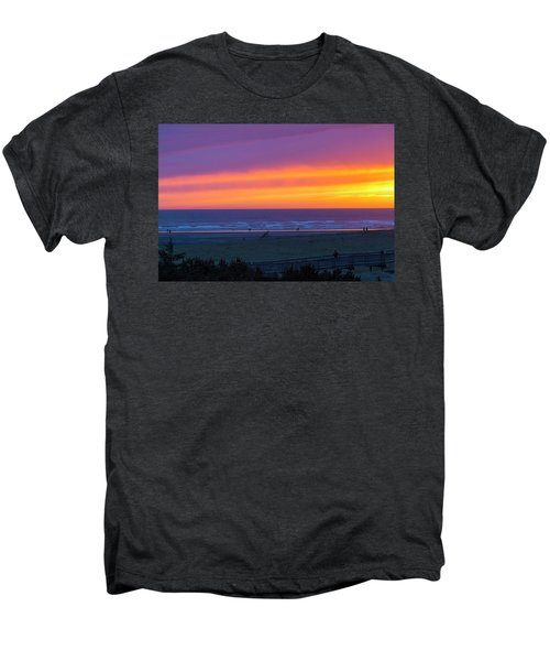 Sunset At Long Beach Washington Men's Premium T-Shirt