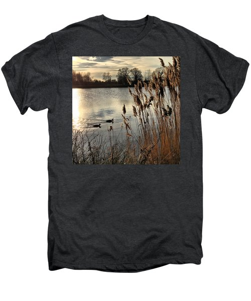 Sunset Lake  Men's Premium T-Shirt by Kathy Spall