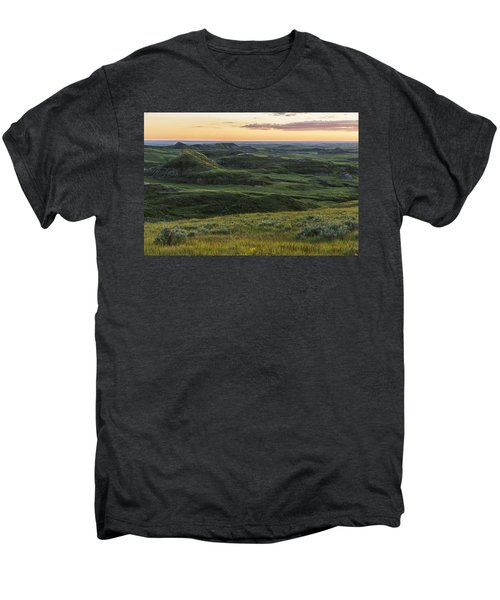 Sunset Over Killdeer Badlands Men's Premium T-Shirt