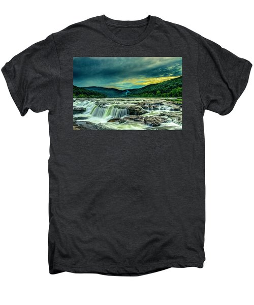 Sunset Over Sandstone Falls Men's Premium T-Shirt