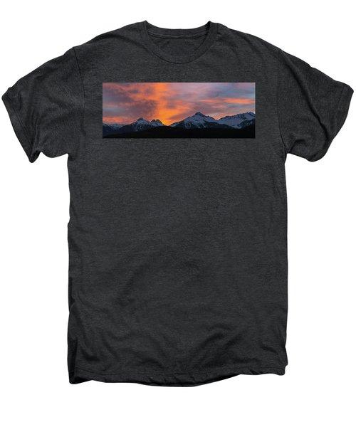 Sunset Over Tantalus Range Panorama Men's Premium T-Shirt