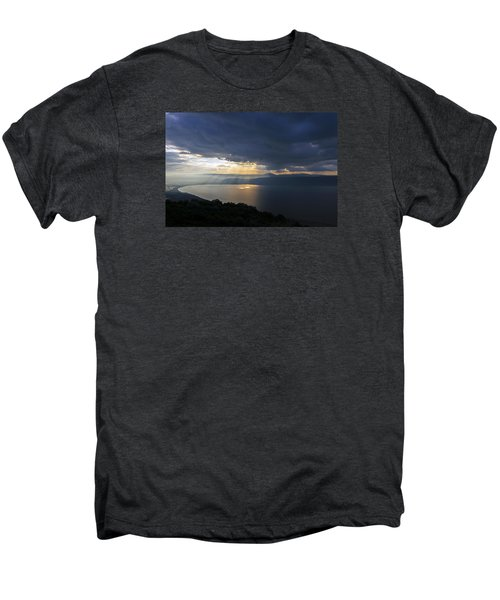 Sunset Over The Sea Of Galilee Men's Premium T-Shirt by Dubi Roman