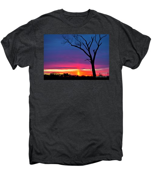 Sunset Sundog  Men's Premium T-Shirt by Ricky L Jones