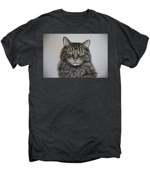 Tabby-lil' Bit Men's Premium T-Shirt by Megan Cohen