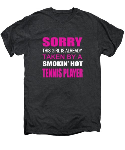 Taken By A Tennis Player Men's Premium T-Shirt by Sophia
