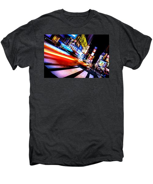 Taxis In Times Square Men's Premium T-Shirt by Az Jackson