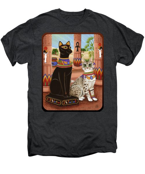 Temple Of Bastet - Bast Goddess Cat Men's Premium T-Shirt