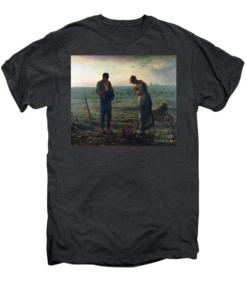 The Angelus Men's Premium T-Shirt by Jean-Francois Millet