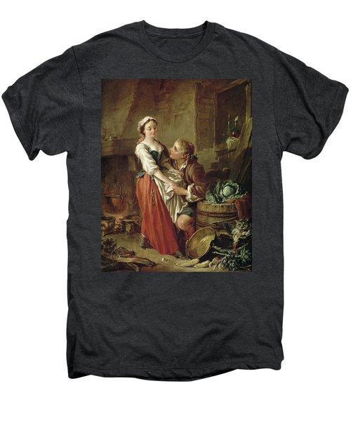 The Beautiful Kitchen Maid Men's Premium T-Shirt by Francois Boucher