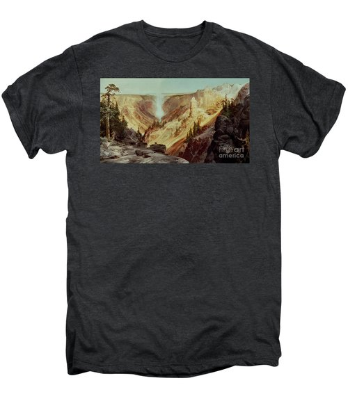 The Grand Canyon Of The Yellowstone Men's Premium T-Shirt by Thomas Moran