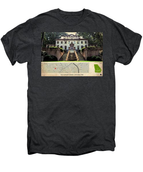 The Hunger Games Catching Fire Movie Location And Map Men's Premium T-Shirt by Pablo Franchi