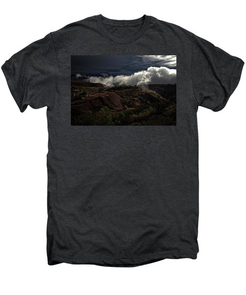 The Jerome State Park With Low Lying Clouds After Storm Men's Premium T-Shirt
