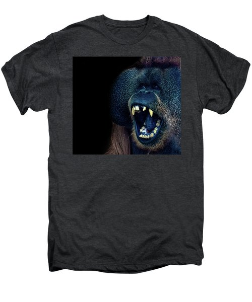 The Laughing Orangutan Men's Premium T-Shirt by Martin Newman