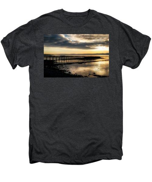 The Old Pier In Culross, Scotland Men's Premium T-Shirt