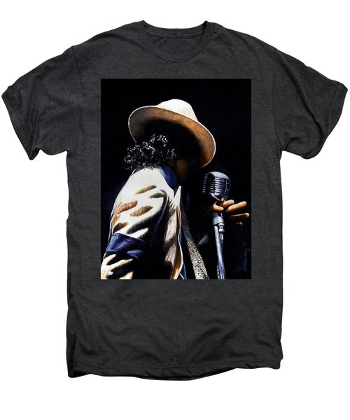 The Pop King Men's Premium T-Shirt by Emerico Imre Toth