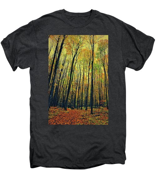 Men's Premium T-Shirt featuring the photograph The Woods In The North by Michelle Calkins