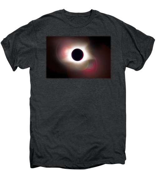 Total Eclipse Of The Sun T Shirt Art With Solar Flares Men's Premium T-Shirt