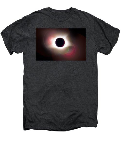 Total Eclipse Of The Sun T Shirt Art With Solar Flares Men's Premium T-Shirt