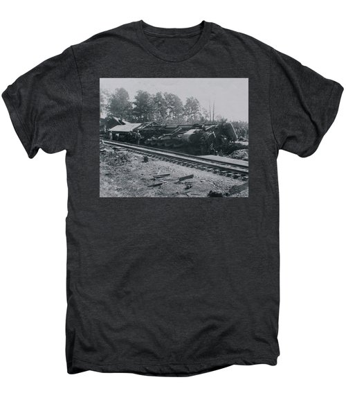 Train Derailment Men's Premium T-Shirt