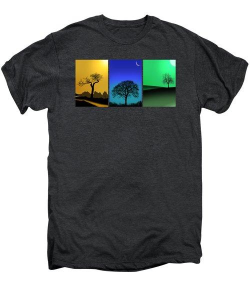 Tree Triptych Men's Premium T-Shirt by Mark Rogan