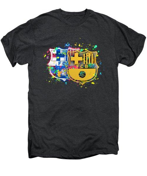 Tribute To Fc Barcelona 8 Men's Premium T-Shirt by Alberto RuiZ