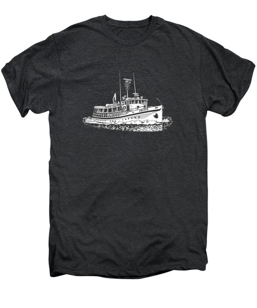Triton 88 Foot Fantail Yacht Men's Premium T-Shirt by Jack Pumphrey