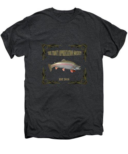 Trout Appreciation Society  Men's Premium T-Shirt by Rob Hawkins