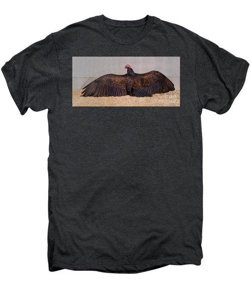 Turkey Vulture Spreading Wings Men's Premium T-Shirt