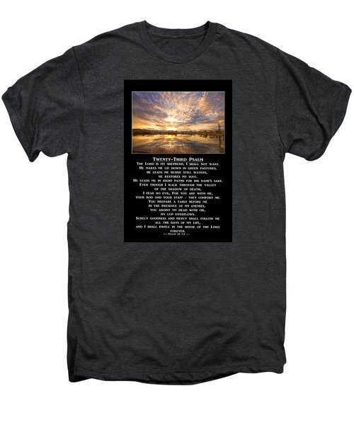 Twenty-third Psalm Prayer Men's Premium T-Shirt by James BO  Insogna