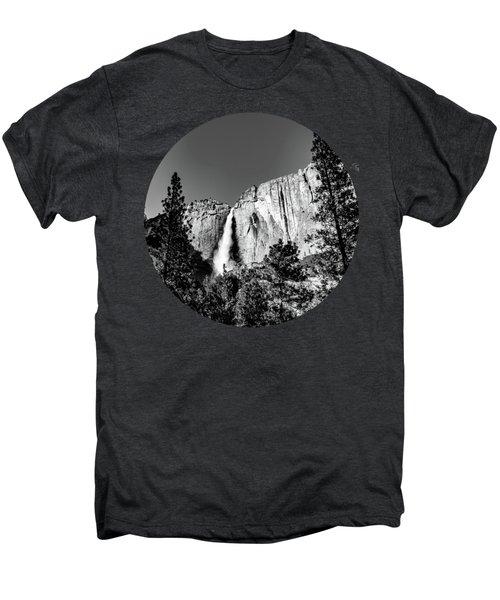 Upper Falls, Black And White Men's Premium T-Shirt