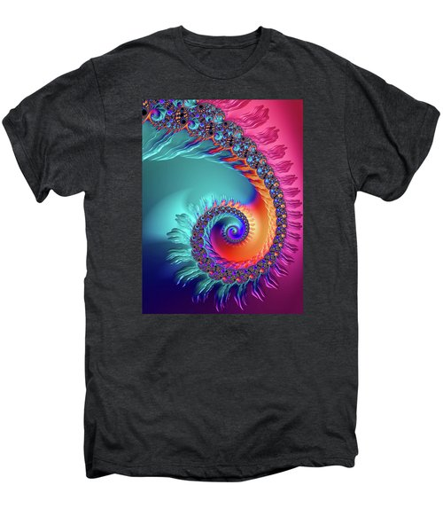 Vibrant And Colorful Fractal Spiral  Men's Premium T-Shirt