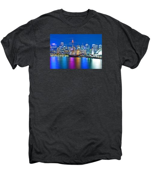 Vibrant Darling Harbour Men's Premium T-Shirt by Az Jackson