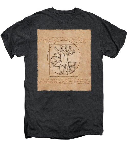 Vitruvian Squirrel Men's Premium T-Shirt by Katherine Nutt