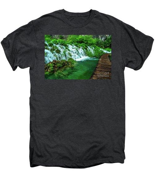 Walking Through Waterfalls - Plitvice Lakes National Park, Croatia Men's Premium T-Shirt