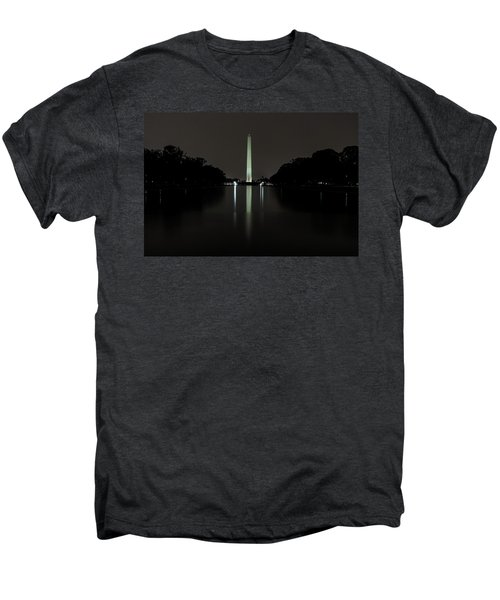 Washington Monument At Night Men's Premium T-Shirt