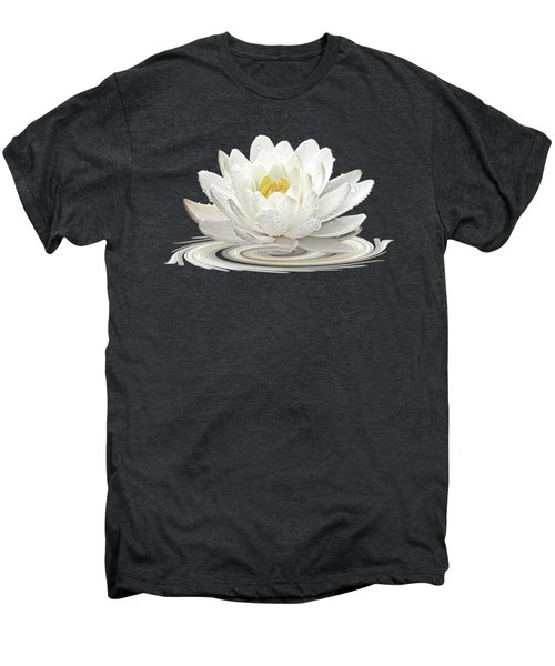 Water Lily Whirl Men's Premium T-Shirt by Gill Billington