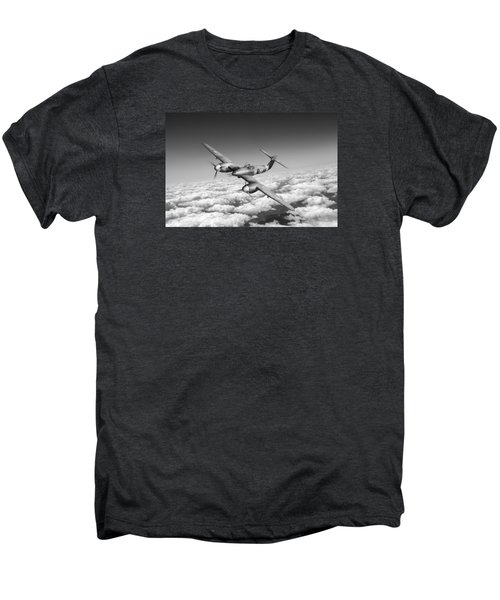 Men's Premium T-Shirt featuring the photograph Westland Whirlwind Portrait Black And White Version by Gary Eason