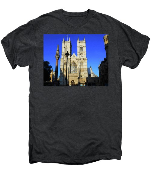 Westminster Abbey London England Men's Premium T-Shirt