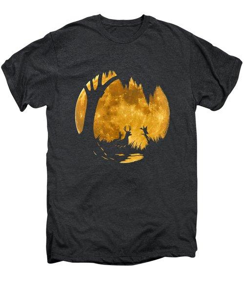 Wetland Wildlife Massive Moon .png Men's Premium T-Shirt