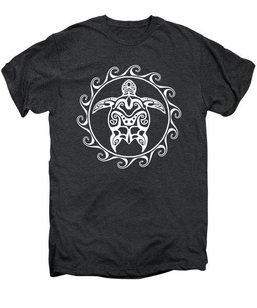 White Tribal Turtle Men's Premium T-Shirt