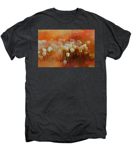 White Tulips Men's Premium T-Shirt
