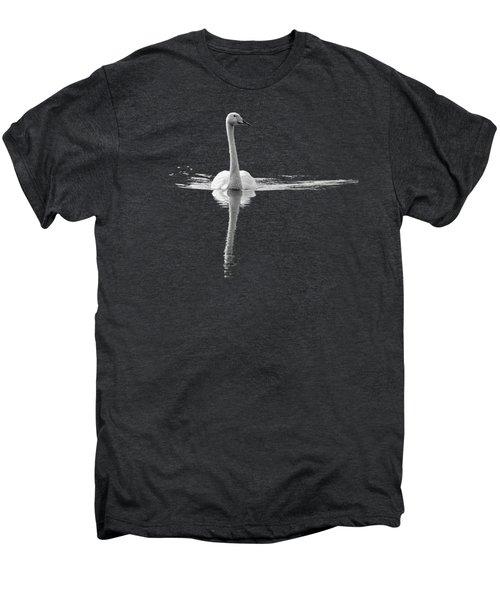 Whooper Swan Bw  Transparent Men's Premium T-Shirt