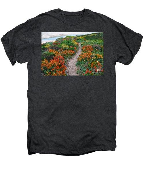 Wildflower Path At Ribera Beach Men's Premium T-Shirt