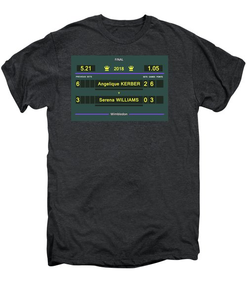 Wimbledon Scoreboard - Customizable - 2017 Muguruza Men's Premium T-Shirt